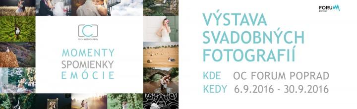 Naša prvá výstava svadobných obrazov v OC Forum v Poprade